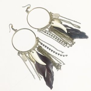 [Aldo] Feather Statement Earrings
